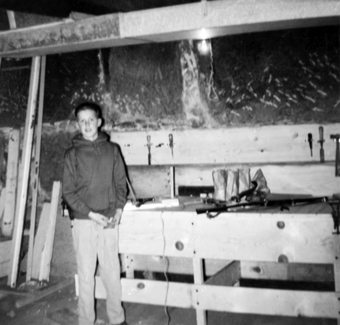 Christmas Morning 1958Johnny's New Workbench
